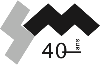 Logo for the 40th anniversary of Productions SuperMusique
