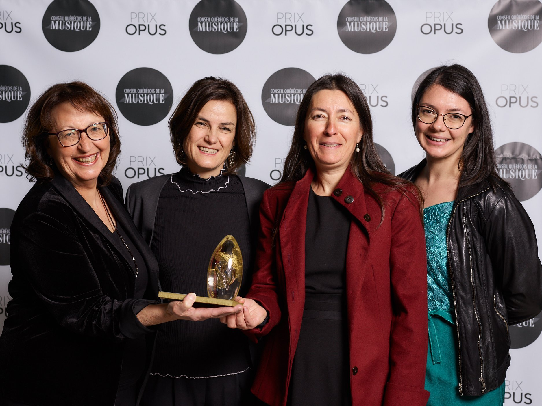 Photo of the Vivier team at the ceremony for the Opus prizes