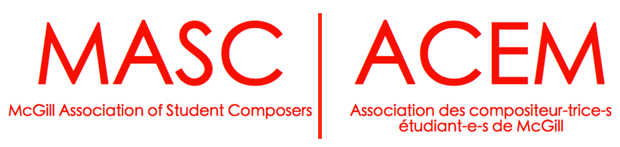 Logo de l'Association des compositeurs étudiants de McGill
